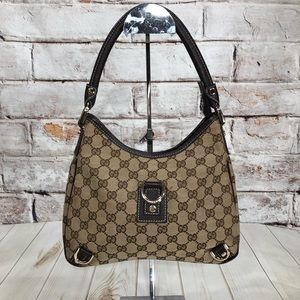 089099fd4 Gucci. Gucci GG Canvas/Leather Abbey D-ring Shoulder Bag